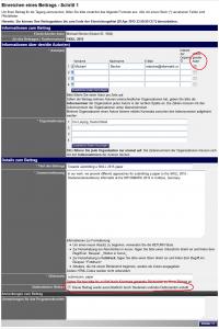 Abbildung 3: Beitrag für die SKILL 2015 einreichen - Schritt 1